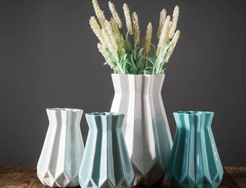 Ceramic Fluted Vase