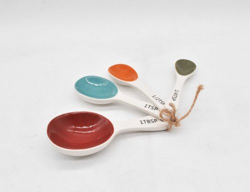 Ceramic Measuring Spoons Set of 4
