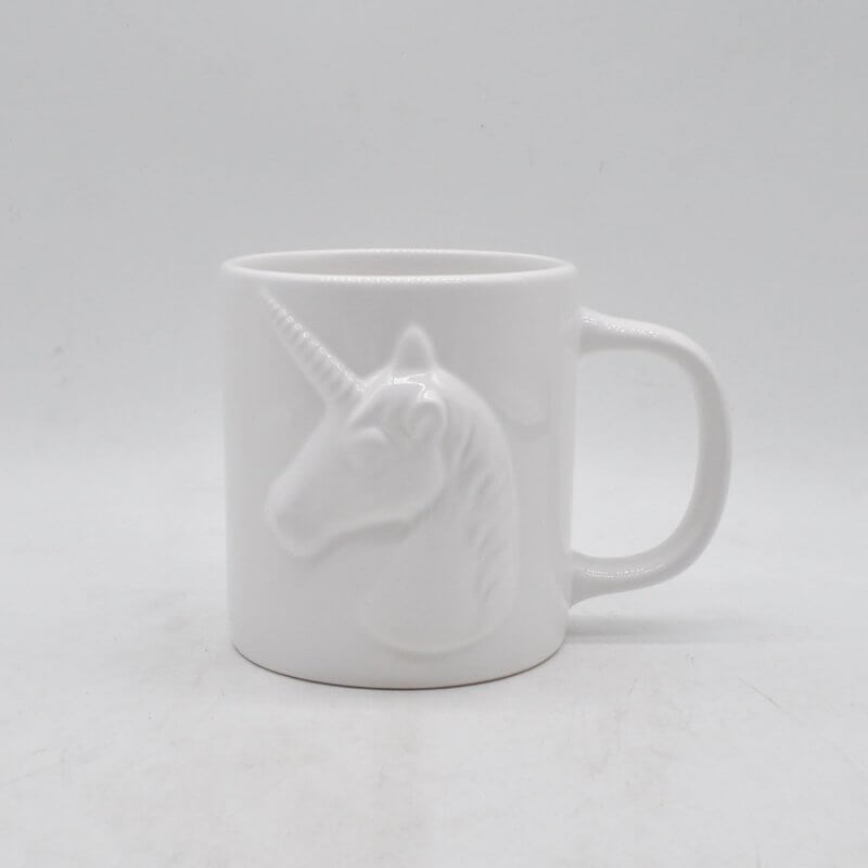Plain White Unicorn Mug Yongchuan Ceramics Co Ltd