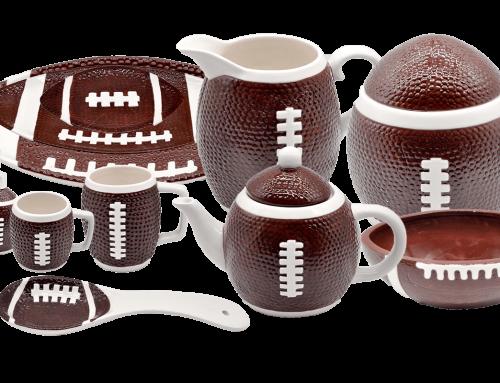 Ceramic American Football Set